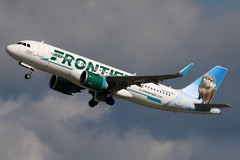 N336FR FRONTIER A320-251N SL at KCLE (GeorgeM757) Tags: frontier n336fr a320251nsl neo aircraft aviation airplane airbus kcle georgem757 takeoff canon70d