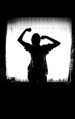 Tired (CoolMcFlash) Tags: person woman bnw blackandwhite bw blackwhite silhouette window room canon eos 60d tired müde frau sw schwarzweis raum kontur fenster fotografie photography tarmon a007 2470
