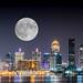 Harvest moon over Louisville