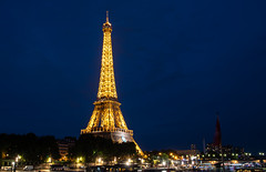 Eiffel Tower (Ann Kunz) Tags: paris travel france nightphotography illumination lights bluehour eiffeltower landmarks