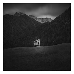Maria Hilf (Marco Maljaars) Tags: church austria marcomaljaars hill bw monochrome mountains mariahilf blackandwhite canon 70d lee trees pattern sky mood silcence clouds tyrol