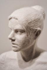 Woolly bust, Gallery Grásteinn, Rejavik (jhberger505) Tags: art bust sculpture woman iceland icelandic wool textured bun hair
