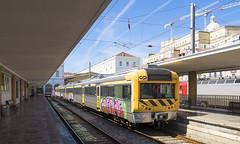 CP2259 Lisbon Santa Apolonia 10/09/2019 (Waddo's World of Railways) Tags: portugal lisbon santaapolonia lisbonsantaapolonia rail railway train dmu cp 2259 cp2259 station
