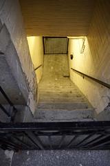 Enter (Restless Eye) Tags: newyorkcity newyork usa stairs wroughtiron light below doorway