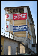 GC9_8828_edit (ladythorpe2) Tags: motor racing ghost reims gueux legende historic meeting 15th september 2019 coca cola moteurs grandstand race control concrete steel track remains motorsport blue sky french grand prix