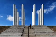 Les 12 colonnes (erichudson78) Tags: france iledefrance cergy axemajeur colonnes columns pillars piliers escaliers stairway silhouette canoneos6d canonef24105mmf4lisusm ciel sky douze twelve