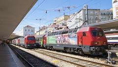 5619 Lisbon Santa Apolonia 10/09/2019 (Waddo's World of Railways) Tags: portugal lisbon santaapolonia lisbonsantaapolonia rail railway train dmu cp loco locomotive class5600 station 5619 cp5619