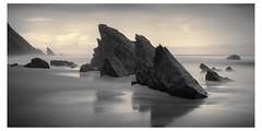 Relics III (Vesa Pihanurmi) Tags: seascape beach rocks stack seastack portugal sintra praiadaadraga shoreline ocean