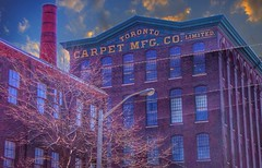 Toronto Carpet Factory 10 years Ago ~ Toronto Ontario Canada (Onasill ~ Bill Badzo - 66M) Tags: toronto carpet mfg co manufacturing vintage photo onasill liberty village landmark architecture victorian factory clouds sky sunset canada ontario king street sunrise