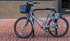 Biketown Rental Art Print (Orbmiser) Tags: nikon28105mmf35f45afd d500 nikon oregon portland sidewalk bicycle