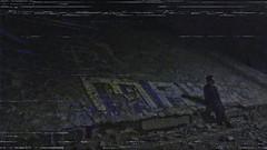 ALONE [VHS] (PeachySick11) Tags: alone solo man boy kid standing shadow night outskirts town city vhs edit retro vintage 90s nineties noventas 90 graffity bridge underbridge under puente debajo vcr street depression anxiety depresion ansiedad isolated asolado soledad lonely loneliness depressed dark