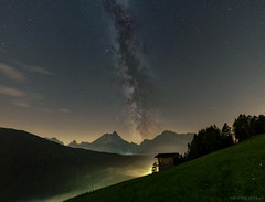 Alpine milk (Piotr Potepa) Tags: milkyway alps mountains sky nightscape night nightscapes stars dolomites italy