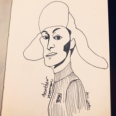 Another woman / 20190917 - #another #woman #model #hat #neat #sweater #face #visage #daily #drawing #sketch #english #word #vocabulary #pen #art #illustration #design #onedrawingaday #drawingeveryday #dailyatom #crys #crysju (Drawing Everyday) Tags: ifttt instagram