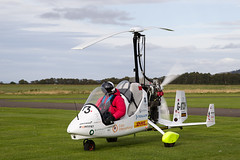G-KTCH Magni M16, Scone (wwshack) Tags: egpt gyrocopter jamesketchell magnim16 psl perth perthkinross perthairport perthshire roundtheworldflight scone sconeairport scotland autogyro gyro gyroplane gktch