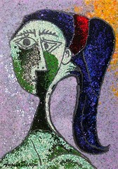 After Pablo Picasso N56 (Angela.B) Tags: picasso picture polymerclay painting art artinterpretation fimo