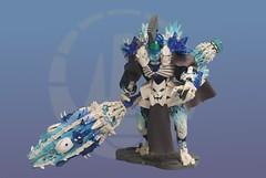 Toa Fjorlon - The Pillar (Poor Disadvantaged) Tags: bionicle lego constraction toa mangai ice mace club large fur helmet kanohi kaukau cape skull