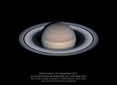 Saturn - 2019-07-09-22:45UTC (@davidduarte_ac) Tags: astrophoto astrophotography astrofotografia astronomia astronomy universe universo features asi1600 lx90 zwo meade televue powermate planetary saturn solarsystem atmosphere rings