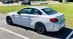 """Alvin's 2019 BMW M2 Competition with 19"""" EC-7 wheels in Anthracite (ApexRaceParts) Tags: m2c f87 f87m2 competition 400mm 19 19inch ec7 white anthracite"""