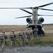Soldiers board a CH-47 Chinook helicopter during Army Pathfinder qualification at JBER, Alaska