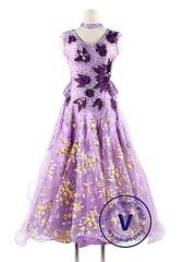 Lavender Flower Luxury Ballroom Waltz Competition Dance Dress (Venus Dancewear) Tags: ballroomdress ballroomdancedress latindress dancewear ballroom competition dress venus dresses dance