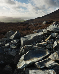 (Neil Bryce) Tags: north wales lleyn peninsula yr eifl snowdonia mountain prehistoric heather coast landscape olympus nant gwytheyrn