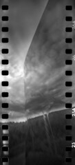 2440 Confluence. (Monobod 1) Tags: ondu 135 panoramic expired ilford hp5 rodinal pinhole lensless epsonv800