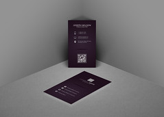 Purple Business Card (Mohammed.Bakkar) Tags: photoshop psd photograpgher photography profile purple creative graphic branding template elegance elegant design designspace vertical white download unique a4 adobe address cards card layout marketing namecard luxury classic clean classy color corporate contact silver business businesscard brand modern mockup simple logo logos