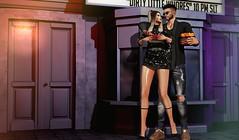 POPCORN THIEF (by Any Bergan) Tags: couple sl secondlife blog blogger girl itgirl fashiongirl style seniha equal junkfood kalback noir stealthic foxy zoom mancave