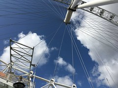Looking up at The Eye (Riley C's photos) Tags: londoneye england london thames