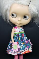 Flower You Doing? (Button Arcade) Tags: artfire buttonarcade blythe dress pockets wool felt