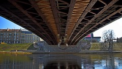 DSC_3236cra (JustinasKlusas) Tags: urban water bridge river underside neris zaliasis vilnius tiltas construction city structure lithuania