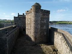 Blackness Castle (World of Izon) Tags: castle sea boats firthofforth blacknesscastle scotland scottishcoastline fields trees tower ramparts