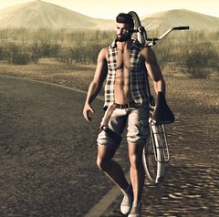 Walk the Lonely Road (Sɲίper Dayɲ-Vίʅʅota) Tags: cubura lob mancave equal10 blog blogger belleza slblog snipersbits secondlife sniper sl slblogger slfashion signature legacy gay gaymale gayguys
