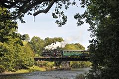 Steam locomotive No. 2 'Zillertal' crosses the River Banwy Bridge whilst heading for Llanfair Caereinion on the W&LLR. (Chuffer Haynes) Tags: steam locomotive no 2 zillertal uclass no2 linz austria mav castle caereinion welshpool llanfair light railway
