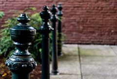 Guide Posts Sidewalk (Orbmiser) Tags: nikon28105mmf35f45afd d500 nikon oregon portland sidewalk posts