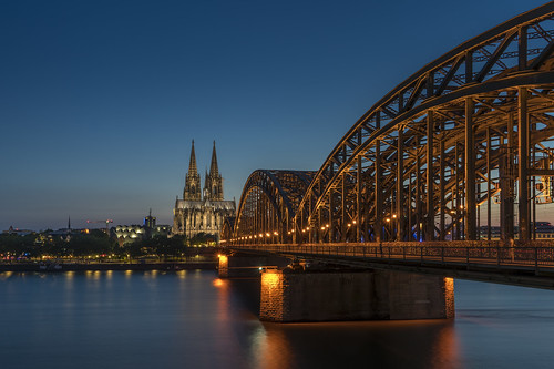 Hohenzollern Bridge leading to Cologne Cathedral