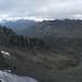 View on Col d'Arsine and Lac du Glacier d'Arsine from brèche 3336