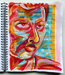 Christian Montone - Sketchbook (2019) (Christian Montone) Tags: sketchbook drawing painting art artist mixedmedia paint ink faces portrait montone christianmontone acrylic women