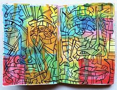 Christian Montone - Sketchbook (2019) (Christian Montone) Tags: sketchbook drawing painting art artist mixedmedia paint ink faces portrait montone christianmontone watercolor menandwomen linedrawing line