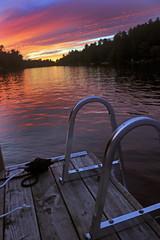 sunset at the dock (scienceduck) Tags: scienceduck 2019 september cottage muldrew muldrewlake lakemuldrew gravenhurst muskoka water sunset dock