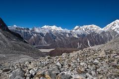 View of Anapurna, Larkya La pass (Petr Vodak) Tags: pass himalaya himalayas anapurna himalaje himalaj larkyala nepál himaláje trekokolomanaslu himálaje mountain mountains hora hory sedlo larkyalapass