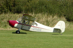 G-DHAH Aeronca 7BCM Champion cn 7AC-4185 Sywell 01Sep19 (kerrydavidtaylor) Tags: orm egbk sywellaerodrome northamptonshire