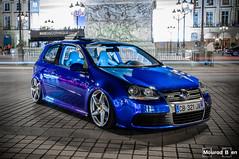 R32 Deep Blue (Mourad Ben Photography) Tags: volkswagen street blue light paris france cars car golf wheels deep ferrari r32 vr6