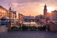 Gothenburg Evening (Fredrik Lindedal) Tags: gothenburg göteborg glow church city clouds sunset water tram train cityscape cityview streetview streetvision sky sweden sverige skyline sun lindedal