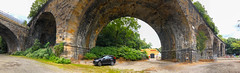 Pics from Pittsburgh #9 (tquist24) Tags: outdoor pennsylvania pittsburgh arch arches architecutre bridge car cloudy iphone iphonex outside panorama panoramic railroadbridge pov