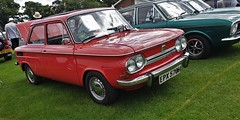 1969 NSU 1200 TT. (ManOfYorkshire) Tags: 151069 1969 nsu 1200 1200tt car petrol 1198cc restored preserved unique press autocar magazine review praise red 4seater doncaster classic auto automobile show 2019 overhauled rebuilt epx570h