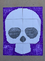 The Day of the Dead Yarn bomb chart all done except for the counting! (crochetbug13) Tags: dayofthedead crochet crocheted crocheting crochetyarnbomb crochetflower largecrochetflower yarn dayofthedeadcrochetchart