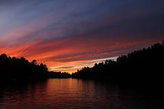 sunset at Muldrew Lake (scienceduck) Tags: scienceduck 2019 september cottage muldrew muldrewlake lakemuldrew gravenhurst muskoka water sunset