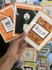 Halloween / autumn cards (artnoose) Tags: cat wholesale rack bowl berkeley deepinkletterpress letterpress autumn pumpkin cards card halloween