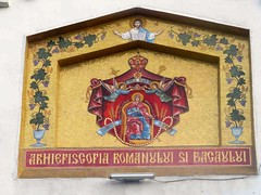 Sign: Archdiocese of Roman and Bacau, Photo by Victor (ali eminov) Tags: romanandbacau romania archdiocese sign painting